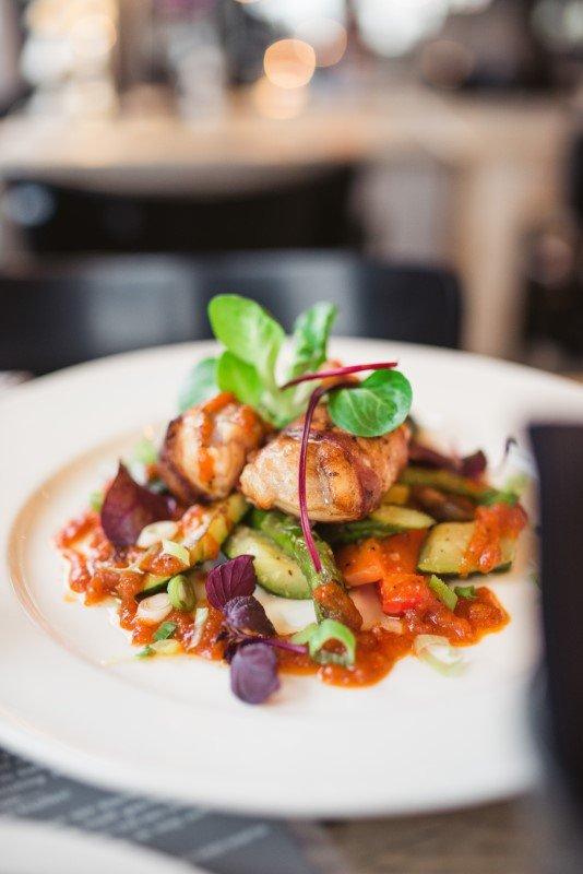 Culinair arrangement aan zee